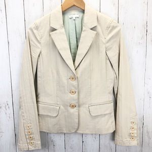 Vince Cream Fitted Blazer Jacket Sz 8